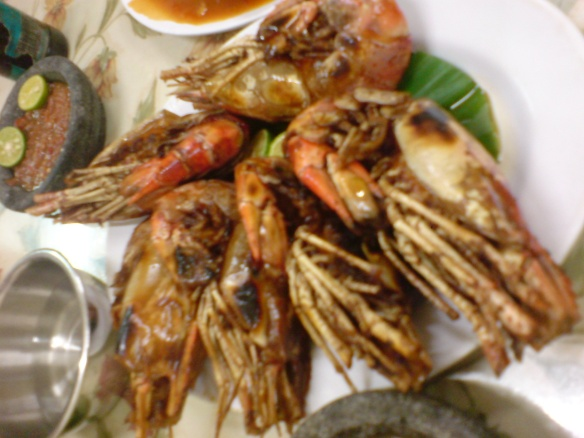 Big yummy prawns